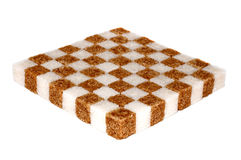 Shugar chessboard Royalty Free Stock Photography