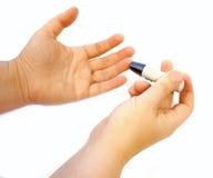 shugar provning för glaucometer Arkivbild