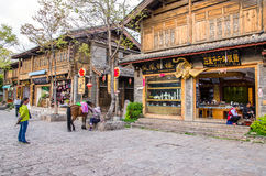 Shuhe古镇是其中一个丽江和保存良好的镇最旧的栖所古老茶路线的 云南中国 免版税库存图片