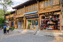 Shuhe古镇是其中一个丽江和保存良好的镇最旧的栖所古老茶路线的 云南中国 库存照片