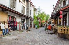 Shuhe古镇是其中一个丽江和保存良好的镇最旧的栖所古老茶路线的 免版税库存照片