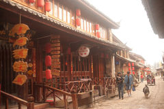 Shuhe ancient town in Lijiang,Yunnan province in Southwestern of Royalty Free Stock Photos