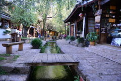 Shuhe ancient town. Was one of the earliest gathering places of Lijiang valley plain region for the Naxi ancestors. It was an important town on the Tea-horse royalty free stock photography