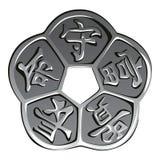 Shui chino antiguo del feng de la moneda del vector Imagen de archivo