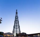 Shukhov radiotrasmette la torre di towerShabolovka è una torre di radiodiffusione a Mosca ha progettato da Vladimir Shukhov La Ru Fotografia Stock Libera da Diritti