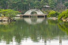 Shukkeien le jardin de style japonais à Hiroshima, Japon Photographie stock