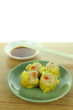 Shumai , siu mai - chinese steamed pork dumplings Royalty Free Stock Photo