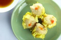Shumai , siu mai - chinese steamed pork dumplings on white background Stock Image
