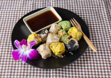 Shumai. Steamed homemade shrimp and chicken dumpling Royalty Free Stock Photography