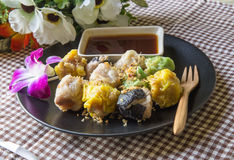 Shumai. Steamed homemade shrimp and chicken dumpling Royalty Free Stock Photo