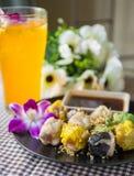 Shumai. Steamed homemade shrimp and chicken dumpling Stock Photo