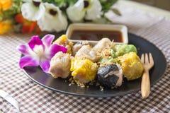 Shumai. Steamed homemade shrimp and chicken dumpling Stock Image
