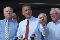 Shumlin on Irene Recovery Stock Photography