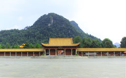 Shundi mausoleum in Jiuyi Mountains.  Royalty Free Stock Image