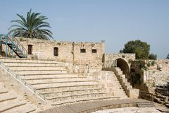 Shuni fortress. Between Binyamina and Zikhron Yaakov, in Jabotinsky park, stand from the past of two thousand years Shuni fortress Royalty Free Stock Photos