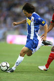 Shunsuke Nakamura in action. BARCELONA, SPAIN : Shunsuke Nakamura of RCD Espanyol in action during a friendly match against Liverpool at the Estadi Cornella-El Stock Images