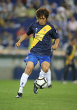 Shunsuke Nakamura in action. Japanese player Shunsuke Nakamura of Espanyol in action during a match against Malaga CF at the Estadi Cornella-El Prat on September Royalty Free Stock Image