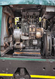 Shunter engine. Small shunter engine with cooler and head of cylinders Royalty Free Stock Photography
