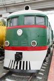 The shunting locomotive TE2 No. 289. Novosibirsk Museum of railway equipment, Siberia, Russia. Novosibirsk Museum of railway equipment, retro appliances, railway royalty free stock photo