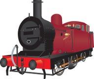Shunting lokomotiv för ånga vektor illustrationer