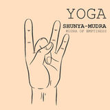 Shunya-Mudra royalty illustrazione gratis