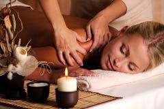 shuolder di massaggio Fotografia Stock