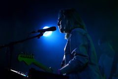 Shura band in concert at Primavera Club 2015 Festival Royalty Free Stock Photos