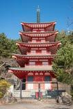 Shureito pagoda and Fuji mountain in Japan Stock Photography