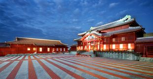Shuri城堡在冲绳岛 图库摄影