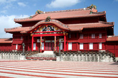 Shuri Castle. Courtyard view of Shuri Castle, in Okinawa, Japan, reconstructed after being destroyed during Battle of Okinawa Stock Photos