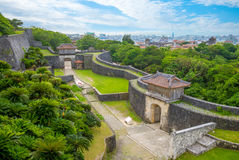 Shuri castle in okinawa. Aerial view of shuri castle in okinawa, japan Stock Photos