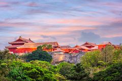 Shuri Castle Okinawa. Okinawa, Japan at Shuri Castle during sunset Stock Photo