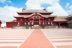 Shuri Castle, Okinawa, Japan. Shuri Castle under the clear blue sky, Okinawa, Japan Stock Photography