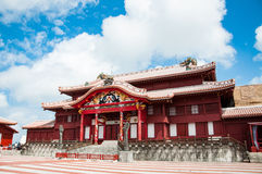 Shuri Castle, Okinawa, Japan. Shuri Castle under the clear blue sky, Okinawa, Japan stock photography