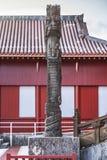 Shuri Castle`s dragons stone sculpture in the Shuri neighborhood of Naha, the capital of Okinawa Prefecture, Japan.  royalty free stock photo