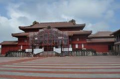 Shuri Castle Under Construction Royalty Free Stock Photo