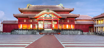 Shuri Castle. Was clearly in use as a castle during the Sanzan period (1322 - 1429). Probably built during the Gusuku period. Royalty Free Stock Image