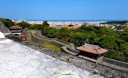 Shurijo Castle Walls and Naha View Royalty Free Stock Photos