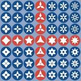 Shurike abstrato dos ícones Imagens de Stock