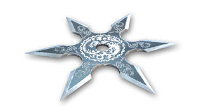 Shuriken star, ninja weapon, white background Royalty Free Stock Photography