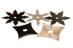 5 shurikens Стоковые Изображения