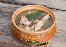 Shurpa (mutton soup) Stock Image