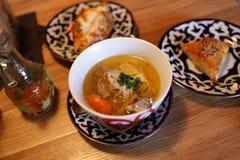 Shurpa soup Royalty Free Stock Photo