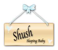 Shush Sleeping Baby Sign Stock Photo