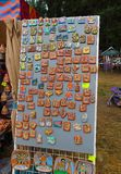 Magnetic souvenirs from Siberia stock photo