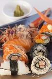 Shushi卷菜单 免版税图库摄影