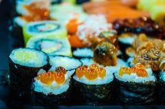 shushi,健康的日本食物 免版税图库摄影