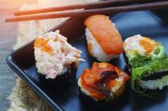 Shushi στο πιάτο Στοκ Φωτογραφία