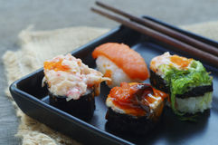 Shushi στο πιάτο Στοκ Εικόνα