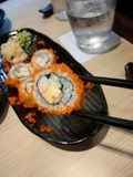 shushi with chopstick Stock Images